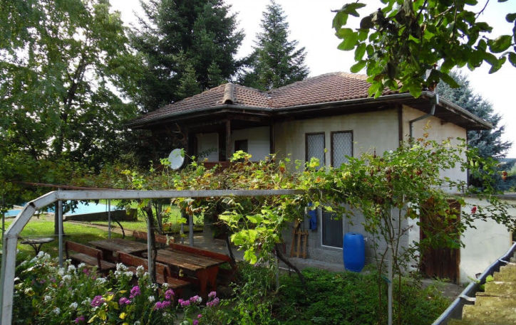 Village Zvezda For Sale a Rural House with pool 9000 sq.m. garden